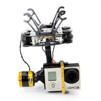 Ready to Use FPV 2-axis BGC Brushless Camera Gimbal GoPro3 w/ Motors Controller PTZ