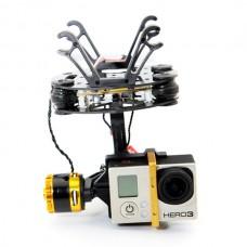 FPV 2-axis BGC Brushless Camera Gimbal Mount PTZ w. Motors for GoPro3 Golden Version