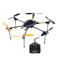 LOTUSRC T700G FPV Foldable Hexacopter ARF Manual Operate Landing Gear RC Flyer + DEVO 10 & Aluminium Case