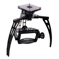 Glass Fiber Pan 3 Axis Synchronous Belt Drive Aerial PTZ Zoom Camera Mount Gimbal