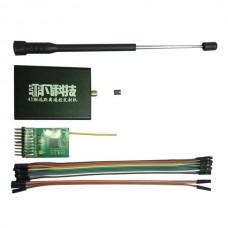 433Mhz 20KM Remote Control Power Adjustable Transmitter + Receiver FPV TX/RX Set Black