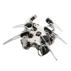 Silver Alum Alloy Hexapod Spider Six Legs Robot Frame Kit Matt 3DOF
