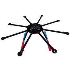 NFR-X6 900mm Carbon Fiber Folding Octocopter FPV Multicopter Frame & Landing Gear