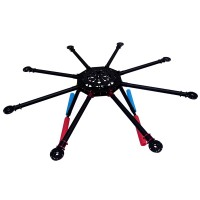 NFR-X6 900mm Carbon Fiber Folding Hexacopter FPV Multicopter Frame & Landing skid Gear