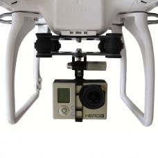 Gopro Hero 2 3 Universal FPV Camera Mount Gimbal+Damping Plate for DJI Phantom Quadcopter Carbon Fiber Version
