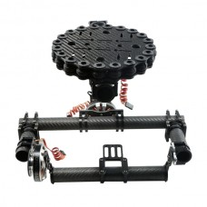 FC Model Carbon Fiber Three-axis Brushless Gimbal Camera Mount Kit w/ Ipower Motors for 5D3 FPV Aerial Photography