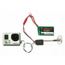 Clover Antenna+200MW 5.8G5.8G 200mW AV Wireless Transmitter 8CH Video FPV Dual AV output 500M-white