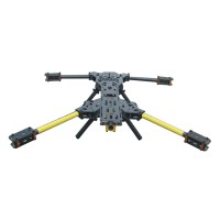 ATG H4 680mm Alien FPV Folding Aircraft Quadcopter Frame + Carbon Fiber Landing Skid Gear