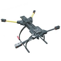 ATG H4 650mm Alien FPV Folding Aircraft Quadcopter Frame + 180mm Tall Landing Skid Gear