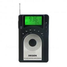 DEGEN DE15 FM Stereo MW SW FML LCD Radio World Band Receiver Alarm Quarz