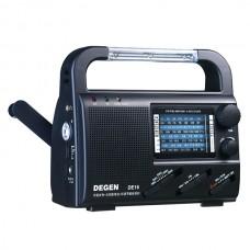 Degen DE16 Multifunction Handcranking / Solar Powered Radio w/ 3-LED Lamp