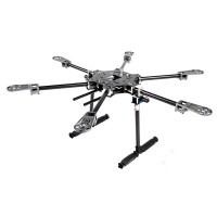 X-CAM Multi-Rotor Copter CF6-Mini Collapsible Folding Hexacopter for Gopro & Mini DSLR FPV