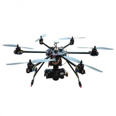 HM6566 FPV Multi-Rotor Aircraft w/ DSLR Brushless Gimbal Ready to Go Hexacopter