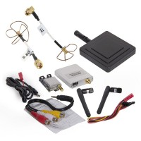FPV 5.8G 200mW TS58200 RC5808 Transmitter Receiver + Cloverleaf + 11dBi Antenna