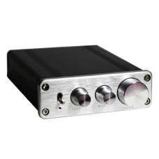 68WX2 Stereo Audio Amplifier Hi-Fi Class-D Digital Amp TDA7498L + LM1036 Amp-Silver Panel