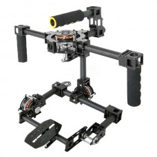 3 axis DSLR Glassy Carbon Fiber Handle Brushless Gimbal w/5208 Motor Movie photography