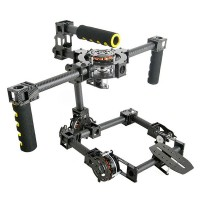 Professional 3 axis DSLR Carbon Fiber Handle Brushless Gimbal for Movie Photography