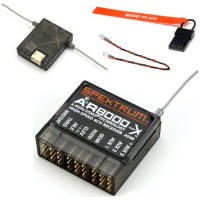 Spektrum AR8000 8-Channel DSMX Receiver w/ Remote Extension SPMAR8000 for DX8 Transmitter