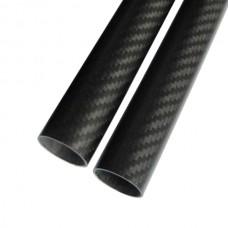 2pcs 25*23*1000MM 3K Pure Carbon Fiber Tube for RC Multi-rotor DIY 1000mm