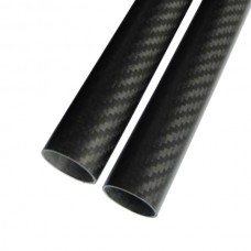 2pcs 12*10*500MM 3K Pure Carbon Fiber Tube for RC Multi-rotor DIY 500mm
