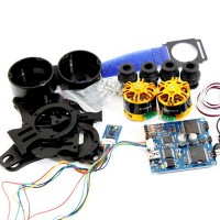 Aluminum 2-axis BGC Brushless Camera Gimbal PTZ w/ Controller and Motor Black for GoPro3