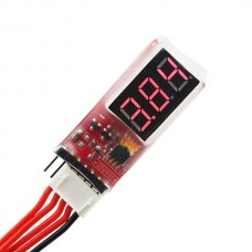 AOK 2-6S Lion Battery Tester Low Voltage Meter Buzzer Alarm 2 in 1 Checker