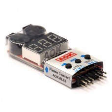 AOK-BL8S LiPo Voltage Checker + 4 in 1 Multi-Purpose ESC/Servo Checker