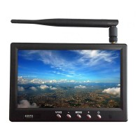Hiee 5.8GHz 32CH Receiver Integrated 7'' FPV Monitor Multicopter 450cd/m High Brightness FPV Monitor