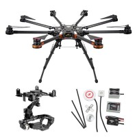 DJI S1000 Premium Spreading Wings Octocopter FPV Foldable Multi-rotor + DJI WKM And 5DII or 5DII Brushless Gimbal