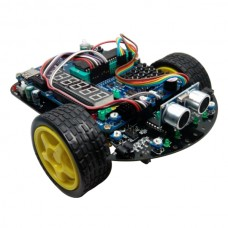 HL-1 Assembled C51 R2 Smart Car Chassis Platform w/ 51 MCU Development Board Tracking Barrier