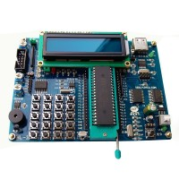 MCS-51Single Chip Development Board 51 Learning Board w/ LCD IR Temperature Sensor