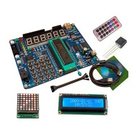 51 Single Chip Development Board 51 STC89C52 Learning Board w/ 1602 LCD IR Temperature Sensor