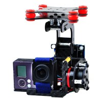 Gopro 3 Carbon Fiber Two Axis FPV Brushless Camera Gimbal Mount PTZ Kit w/ 4pcs Rubber Ball Plate f/ Multicopter