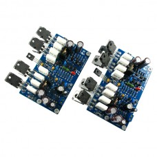 LJM Ver9.0 L20 350W+350W 4ohm Stereo amp KEC 817 1047 IRF610 IRF9610 Amplifier kit