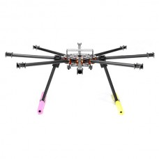 3 deg Version SkyKnight X8-1100 22mm Carbon Fiber FPV Octacopter DSLR Folding Multicopter Kit