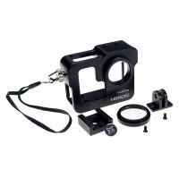 Black Aluminium Protective Case Cover for GoPro HERO 3 + Plus