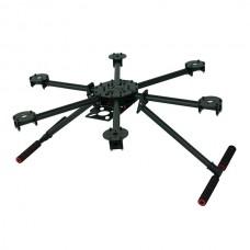 TZT V6 550mm Carbon Fiber Folding Hexacopter FPV Multicopter Frame & Landing skid Gear