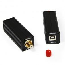 Fanmusic FM6011 USB To Coxial Converter USB 2.0 Mini Digital Sound Card USB TO SPDIF Converter
