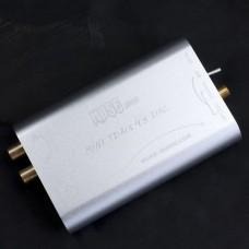 MUSE HI-FI DAC TDA1543 DIR9001 Decoder Digital Coaxial Optical Decoder w/ Power Supply - Silver