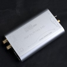 Muse MINI TDA1793 DAC (PCM1793+DIR9001+OPA2134) PC DAC Headphone Amplifier + Power Supply -Silver