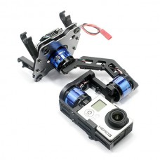 MC6500 Gopro-BLG V2.0 3 Axis Aluminum Brushless Gimbal Set w/ Controller Motors for FPV Photography