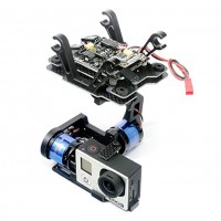 MC6500 Gopro-BLG V2.0 3 Axis Brushless Gimbal w/ Controller Motors SuperPMU Stabilizer for FPV Photography