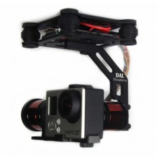 Black DAL 2-Axis FPV Brushless Aluminum Gopro Gimbal for Gopro 3/3+ FPV Aerial Photography