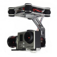 Silver DAL 2-Axis FPV Brushless Aluminum Gopro Gimbal for Gopro 3/3+ FPV Aerial Photography