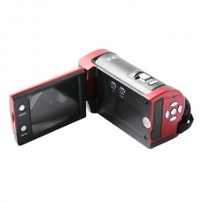 HD-777 1.3 Mega pixels 2.4 inch LCD Digital Video Camera HD Recorder CMOS Sensor-Red