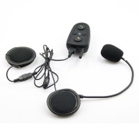 HM-528 100M Bluetooth Motorcycle Helmet Interphone Intercom Headset with Built-in FM Radio