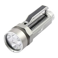 LusteFire DV400 4xCree XM-L2 T6 1-Mode 3000LM Stepless Dimming Adjusted Diving Flashlight w/ Handgrip-Grey (2x26650)