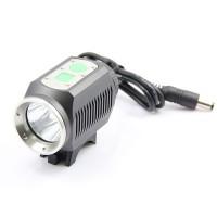 MarsFire M CREE XM-L T6 3-Mode 650LM White Bike Light / Headlamp - Grey (4 x 18650)