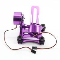 CNC Alloy Brushless Camera Gimbal Mount Ptz+ Motor for DJI Gopro 2 3-Purple