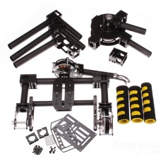 FPV 3 axis DSLR Handle Gimbal Carbon Fiber Stabilized Camera Mount PTZ with 3pcs 5208 Motors